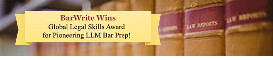 Bar Exam Courses. The BarWrite bar prep courses are tightly targeted to the needs of LLMs and retkers.