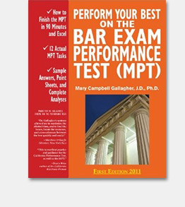 Perform Your Best on the Bar Exam Performance Test (MPT) is a best-selling study guide to the MPT part of the bar exam.